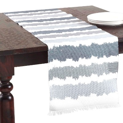 "Ribbed Ombré Design Runner Blue/Grey (16""x72"")"