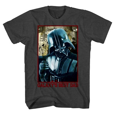 Star Wars ® Men's Galaxy's Best Dad T-Shirt Charcoal Gray Small