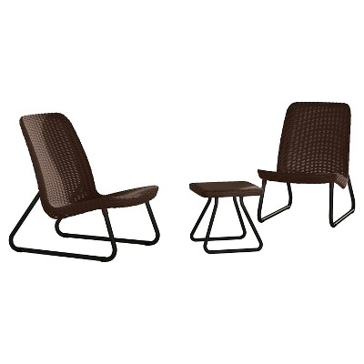 Keter Rio 3-Piece Resin Patio Conversation Set