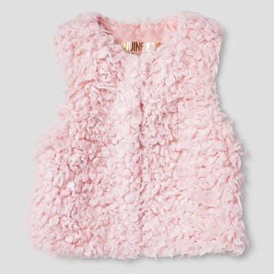 Baby Girls' Fur Vest Pink 12M-18M - Genuine Kids from Oshkosh™
