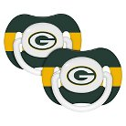 Baby Fanatic NFL 2-Pack Baby Pacifier -  Green Bay Packer