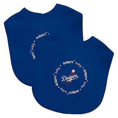MLB Baby Bib 2 pack with Velcro- Los Angeles Dodgers