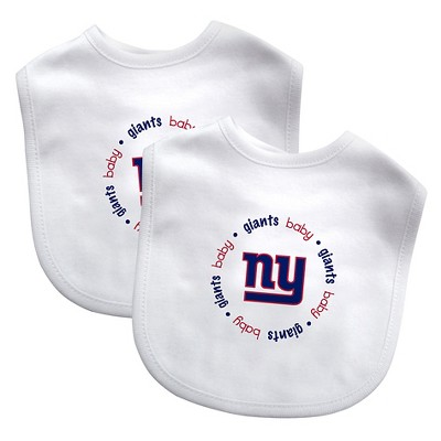 NFL Baby Bib 2 pack with Velcro- New York Giants