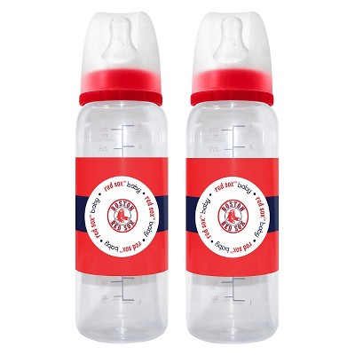 MLB Baby Fanatic 2-Pack Baby Bottle Set Boston Red Sox