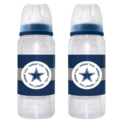 NFL Baby Fanatic 2- Pack Baby Bottle Set Dallas Cowboys