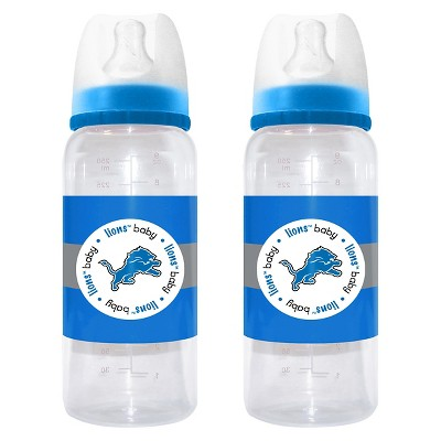 NFL Baby Fanatic 2- Pack Baby Bottle Set Detroit Lions
