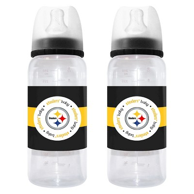 NFL Baby Fanatic 2- Pack Baby Bottle Set Pittsburg Steelers