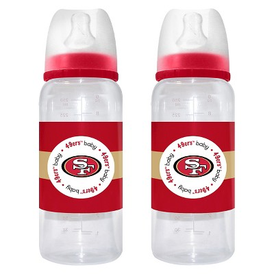 NFL Baby Fanatic 2- Pack Baby Bottle Set San Francisco 49ers