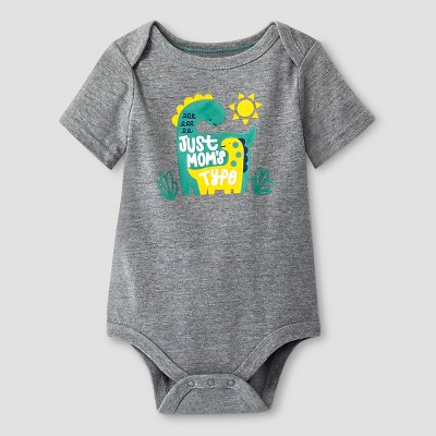 Baby Boys' Short-Sleeve Moms Type Bodysuit Baby Cat & Jack™ - Grey 3-6M