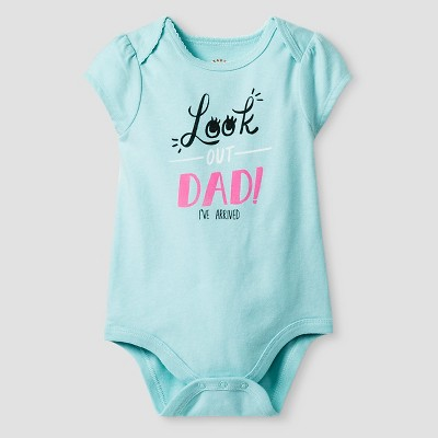 Baby Girls' Short-Sleeve Look Out Bodysuit Baby Cat & Jack™ - Turquoise 3-6M