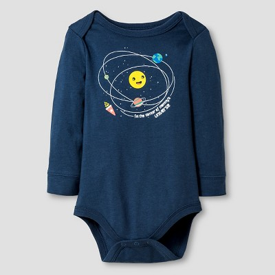 Baby Boys' Long-Sleeve Space Bodysuit Baby Cat & Jack™ - Blue 12M
