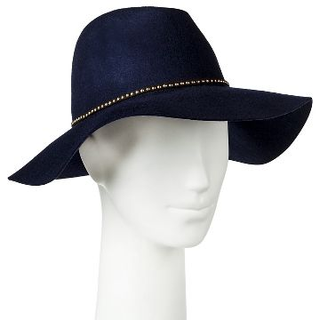 Women's Fedora with Sliver Studs Navy - Merona™