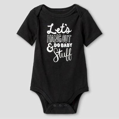 Baby Short-Sleeve Hang Out Bodysuit Baby Cat & Jack™ - Ebony 3-6M