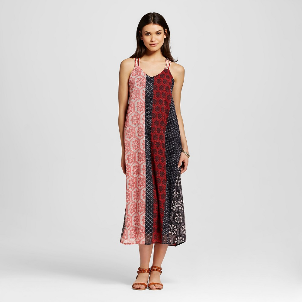 Women's Georgette Halter Maxi Dress Red M - Nitrogen, Size: Medium, China Red