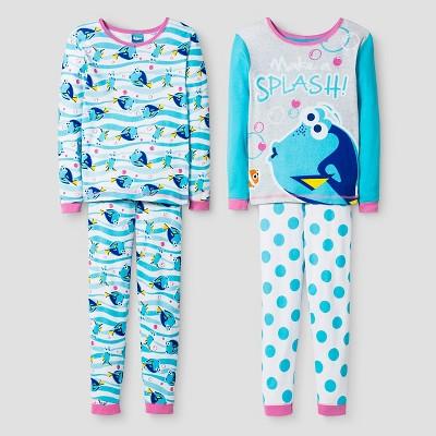 Finding Dory Girls' Pajama Set - Blue 6