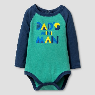 Baby Boys' Long-Sleeve Mini Man Bodysuit Baby Cat & Jack™ - Green 3-6M