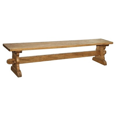 Sante Fe Rustic Trestle Dining Bench - Wood/Rustic Mango - Casual Elements