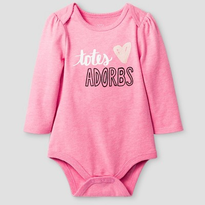 Baby Girls' Long-Sleeve Toes Adorbs Bodysuit Baby Cat & Jack™ - Pink 6-9M
