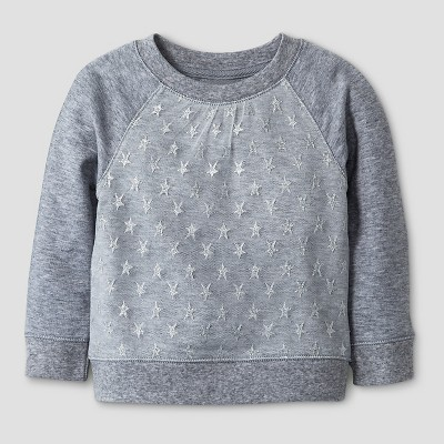 Baby Girls' Sweatshirt - Gray 12M - Cat & Jack™