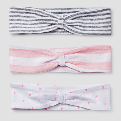 Baby Girls' 3 Pack Headband Set Baby Cat & Jack™ - Pink/White