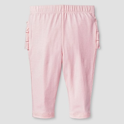 Baby Girls' Sold Ruffle Bum Legging Baby Cat & Jack™ - Pink 3-6M