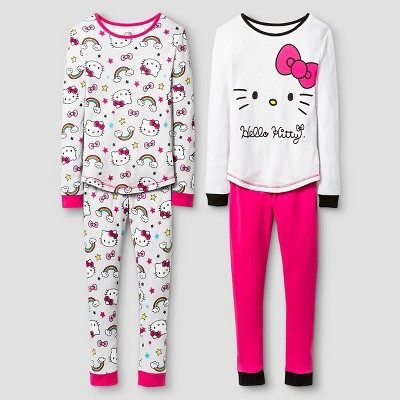 Hello Kitty Girls' Pajama Set - Multi-colored 4