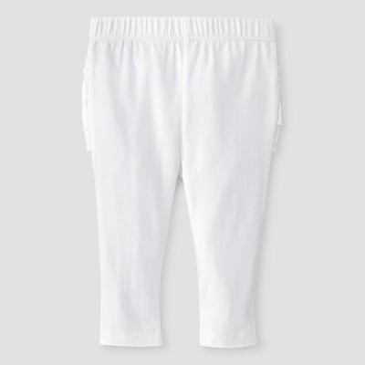 Baby Girls' Sold Ruffle Bum Legging Baby Cat & Jack™ - White NB