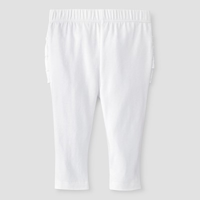 Baby Girls' Sold Ruffle Bum Legging Baby Cat & Jack™ - White 3-6M