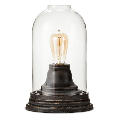 "Accent Glass Light Cloche with Bronze - Clear/Dark Bronze (7.75x11.5"") The Industrial Shop"