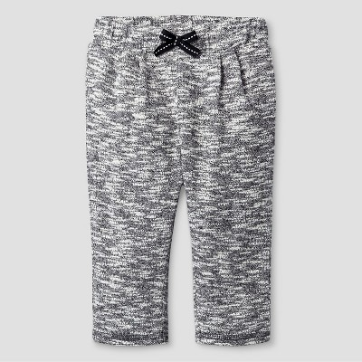 Baby Girls' Texture Jogger Pant Baby Cat & Jack™ - Grey 0-3M