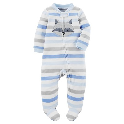 Just One You™Made by Carter's® Baby Boys' Blue Stripe Raccoon Sleep N' Play NB