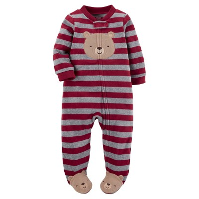 Just One You™Made by Carter's® Baby Boys'  Red Stripe Bear Sleep N' Play NB