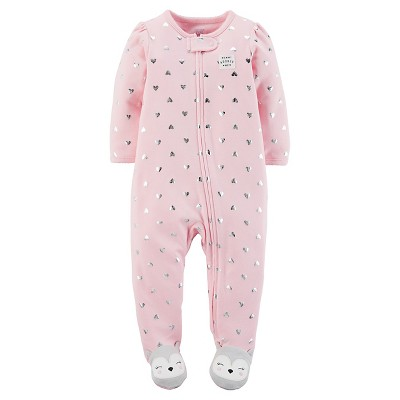 Just One You™Made by Carter's® Baby Girls' Pink Heart Sleep N' Play 6M