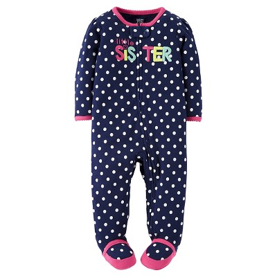 Just One You™Made by Carter's® Baby Girls'  Blue Dot Little Sister Sleep N' Play NB