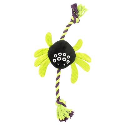 Spider Slider Rope Dog Toy - Black (Medium)