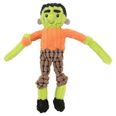 Squeaker Frankenstein Dog Toy - Green (Small)