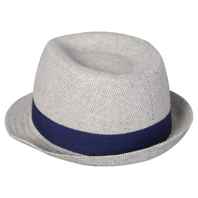 Baby Boys' Herringbone Fedora Hat Baby Cat & Jack™  - Grey 0-6M