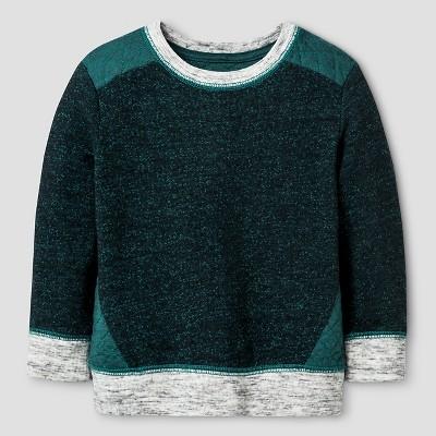 Baby Boys' Quilted Crew Sweatshirt Baby Cat & Jack™ - Green 12 M