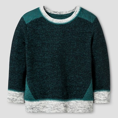 Baby Boys' Quilted Crew Sweatshirt Baby Cat & Jack™ - Green 18 M