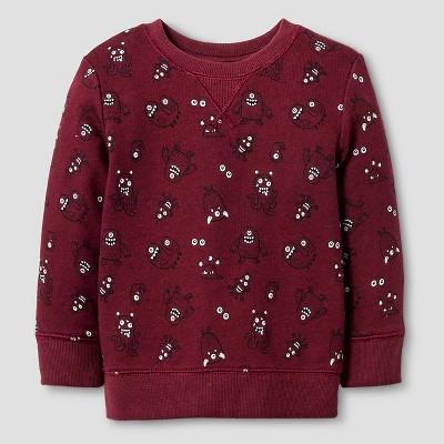 Baby Boys' Monster Crew Sweatshirt Baby Cat & Jack™ - Red 12 M