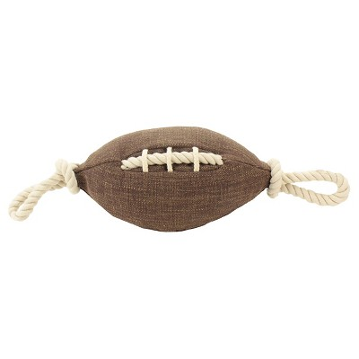 Soft Football Dog Toy Brown (Large) - Boots & Barkley™