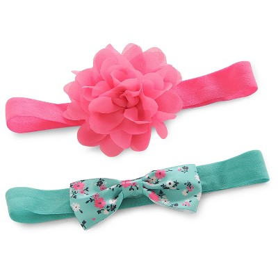 Just One You™Made by Carter's® Baby Girls' 2 Pack Rosette and Bow Headwrap Set