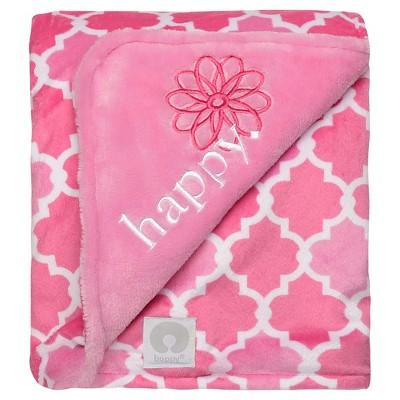 Boppy Reversible Plush Baby Blanket - Pink