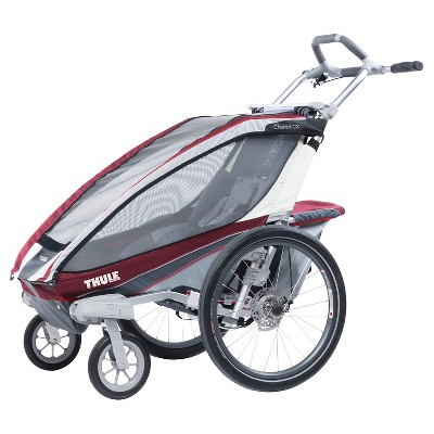 Thule Chariot CX 1 Multi-Sport Child Carrier with Strolling Kit Burgundy