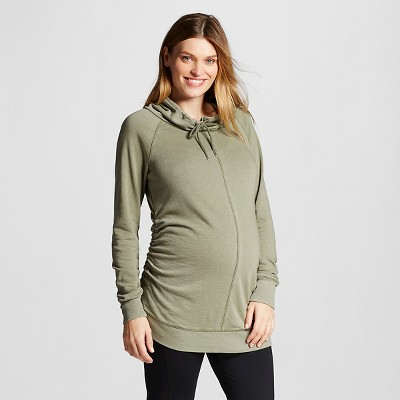 Maternity Cowl Tunic Olive S - Liz Lange® for Target