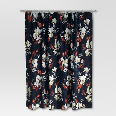 Floral Print Shower Curtain - Blue - Threshold™