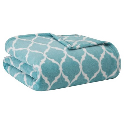 Bed Blanket Ogee Full/Queen Aqua