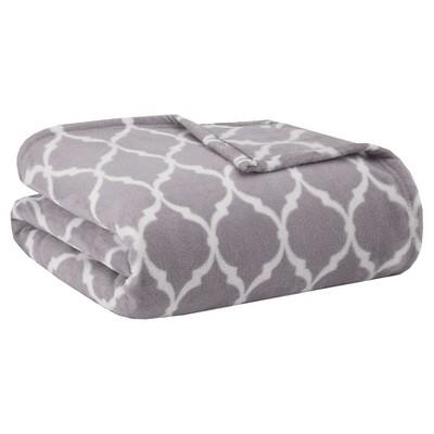 Bed Blanket Ogee Full/Queen Grey