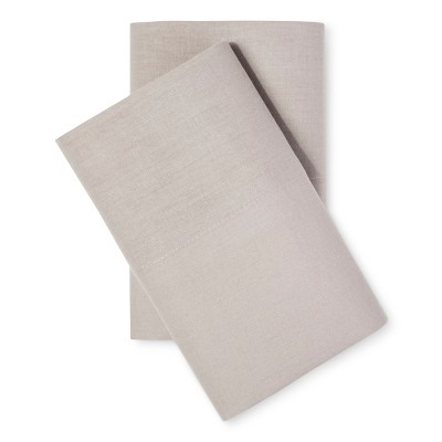 Pillowcases Cotton Linen Blend Standard Natural