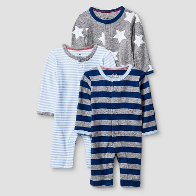 Baby Boys' 3 Pack Sleep N' Play Set Baby Cat & Jack™ - Navy/Heather Grey